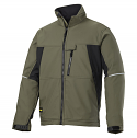 Snickers 1212 Soft Shell Jacket Olive Green/Black
