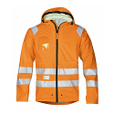 Snickers 8233 High-Vis PU Rain Jacket Orange Class 3