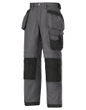 Snickers 3214 Craftsmen Holster Pocket Trousers Canvas+ Steel Grey/Black