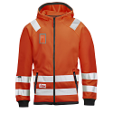 Snickers 8043 High-Vis Micro Fleece Hood Jacket Orange Class 3