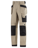 Snickers 3214 Craftsmen Holster Pocket Trousers Canvas+ Khaki/Black