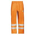 Snickers 8243 High-Vis PU Rain Trousers Class 2 Orange