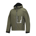 Snickers 1219 Soft Shell Olive Green/Black Jacket with Hood