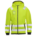 Snickers 8043 High-Vis Micro Fleece Hood Jacket Yellow Class 3
