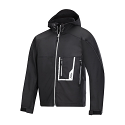Snickers 1219 Soft Shell Black Jacket with Hood