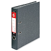 Foolscap Lever Arch File Cloudy Grey 5 Star Single Pack