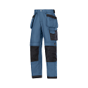 Snickers 3214 Craftsmen Holster Pocket Trousers Canvas+ Blue/Black