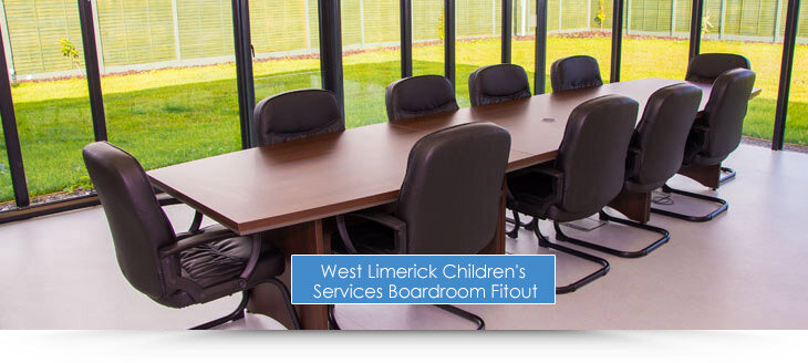 West Limerick Children's Services Boardroom Fit-Out and Furnishing by Huntoffice Interiors